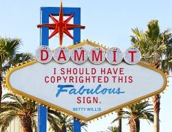 A Las Vegas sign - believed public domain image, messed with
