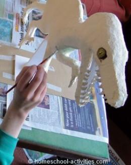 Painting Velociraptor
