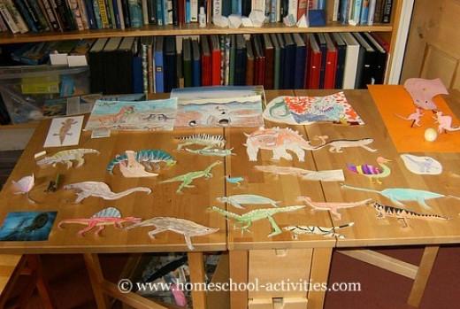 kids dinosaur lapbook