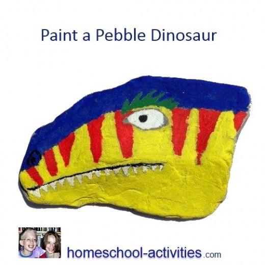 Dinosaur pebble