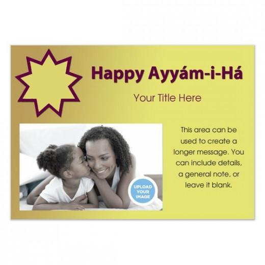 Customizable Ayyam-i-Ha Card