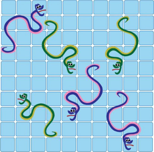 Free chutes and snakes and ladders templates hubpages for Snakes and ladders printable template