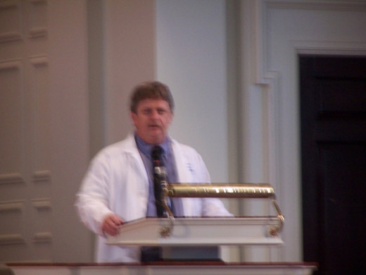 Terry Mize, MMSc, PA-C, Part of the PA program staff at Emory and doing his job introducing the White Coat Ceremony speaker