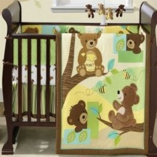 Teddy Bear Crib Bedding Set