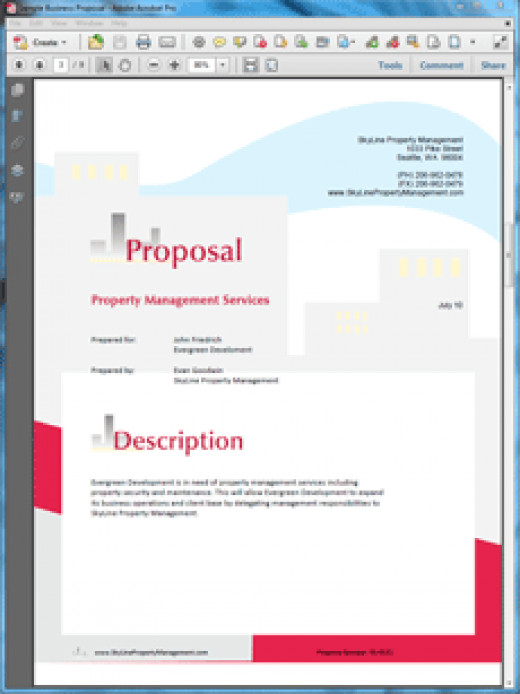 Proposal Pack Skyline Design Theme