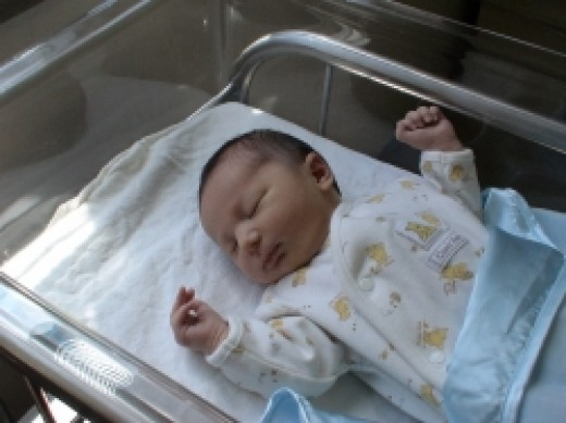 Photo of My Son Just After Delivery