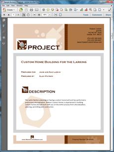 Proposal Pack Construction Design Theme