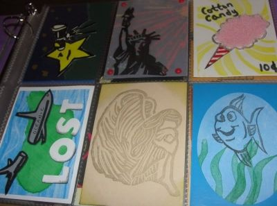 Letterboxing Trading Cards - A Few That I Have Made