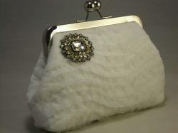 "The ""diamond"" clutch purse."