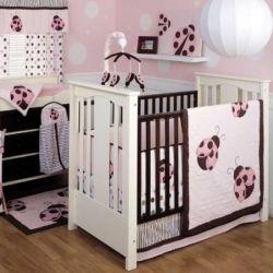 Ladybug crib bedding set