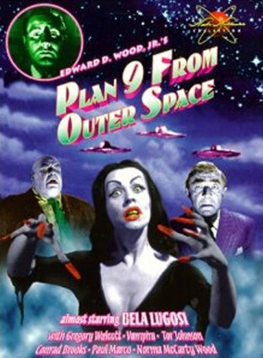 Vampira in the cult classic B movie, Plan 9 From Outer Space