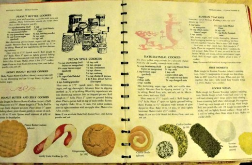 One of the inside pages of my cookbook that contains the recipe for Russian Tea Cakes - a family holiday favorite!