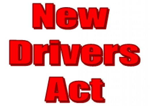 The New Drivers Act applies for 2 years after you pass your driving test - get 6 or more penalty points in those 2 years and you will lose your driving licence and have to take both the Theory and Practical driving tests again!