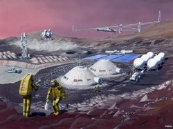 Hypothetical Base on Mars