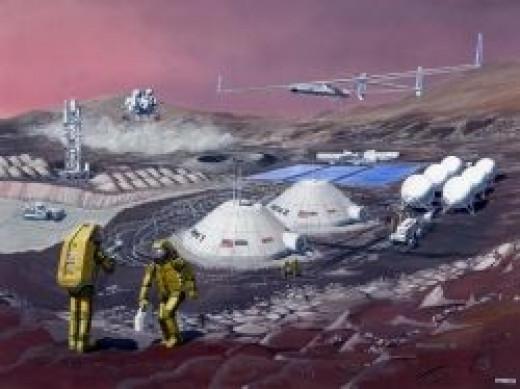 Hypothetical Base on Mars