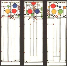 Coonley House windows, by Frank Lloyd wright
