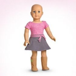 American Girl bald doll