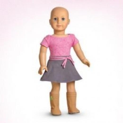 American Girl bald doll