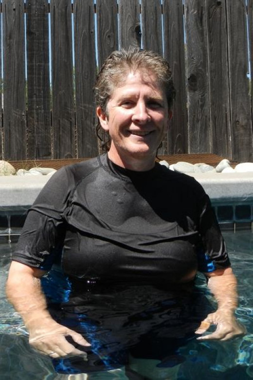The Author in a Swimming Shirt