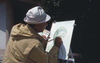 An artist in Japan