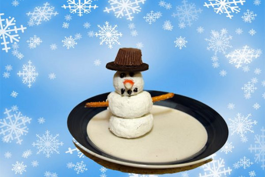 snowman donut christmas craft