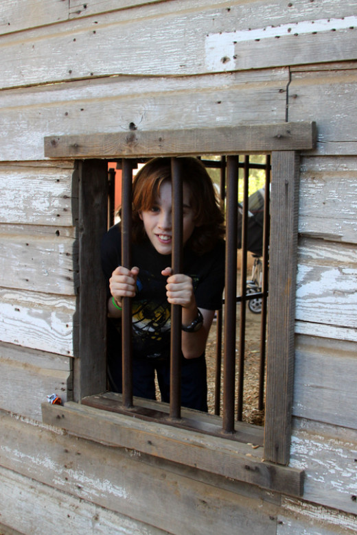 The wooden fort and jail are other great places for kids to play and climb at the farm.
