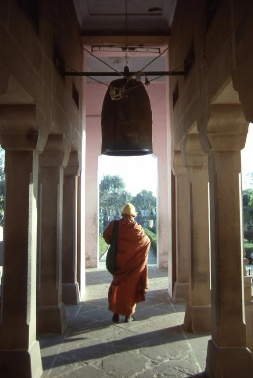 This was shot at Mulagandhakuti Vihara, a Buddhist temple located in Sarnath, Uttar Pradesh, India. Sarnath is the historic city where the Buddha gave his first lecture after becoming enlightened.