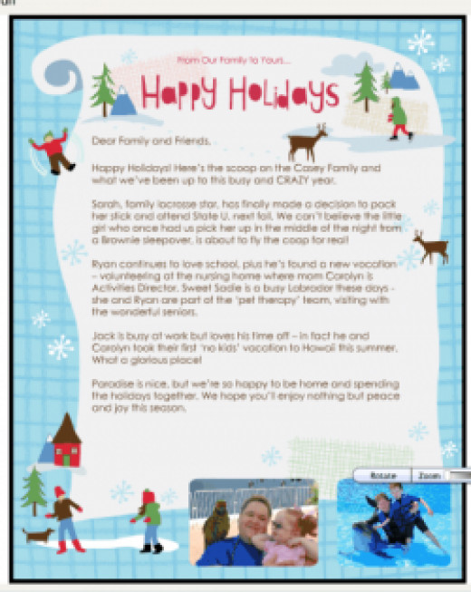 electronic christmas letter