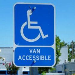 disabled parking - van accessible
