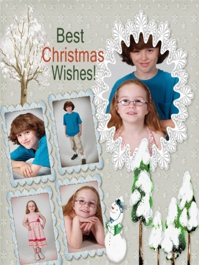 christmas collage photo cards