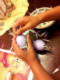 Making a Cascarone For Spring Equinox