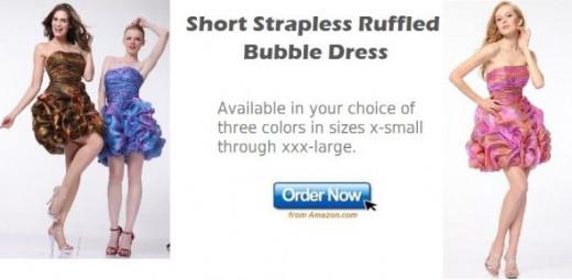 Short Bubble Prom Dress