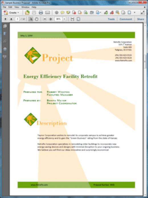 Proposal Pack Energy Design Theme