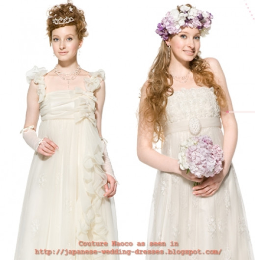 Cute, fun and flirty bridal dresses by Ginza Naoco Couture