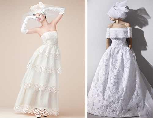Sophisticated modern wedding gowns by Jun Ashida