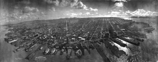 1906 Kite Aerial Photograph - San Francisco