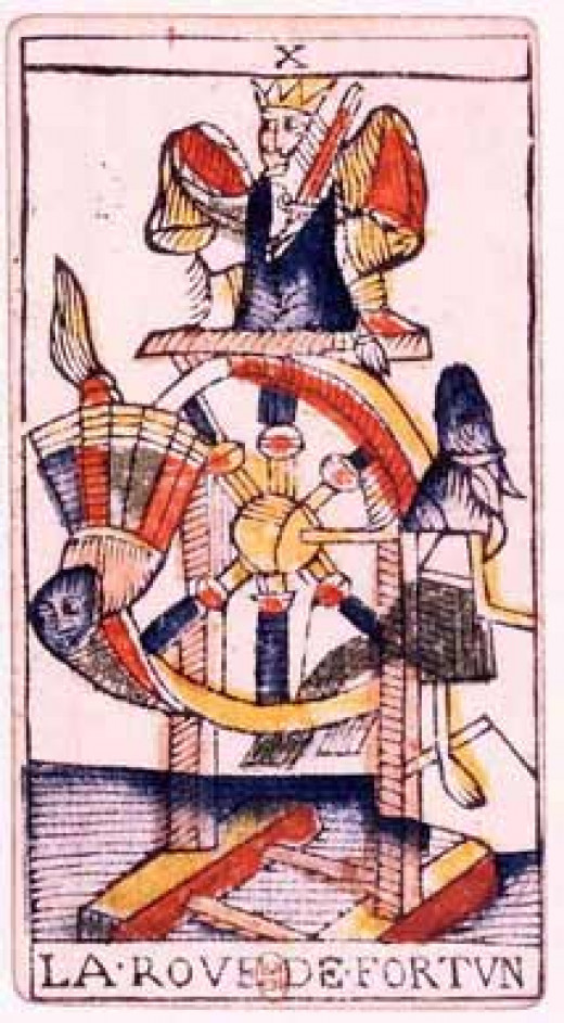Card from the Jean Dodal tarot deck dated from 1701-1715.