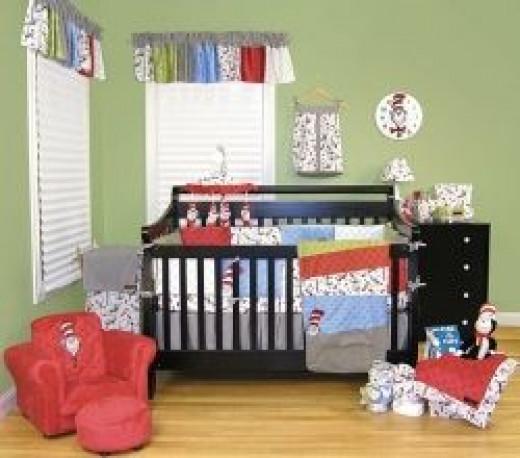 Trend Lab 4 Piece Dr Seuss Crib Bedding Set