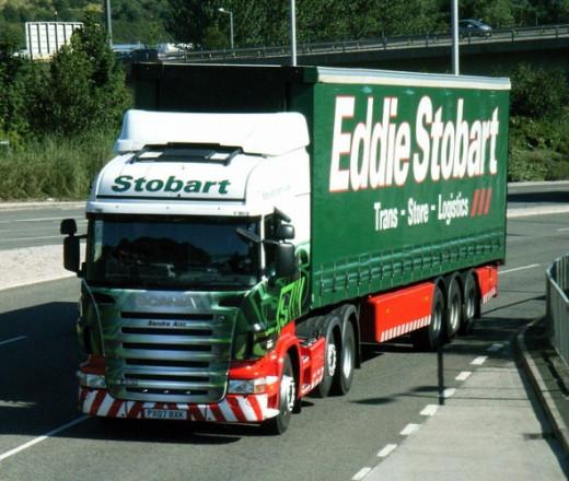 Eddie Stobart Truck in Green Livery