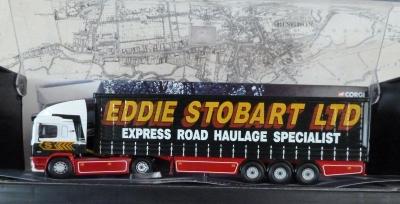 Eddie Stobart ERF Curtainside Truck Model