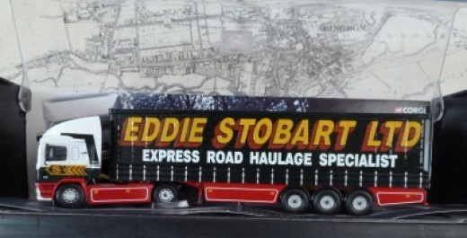 Eddie Stobart ERF Curtainside Truck Model