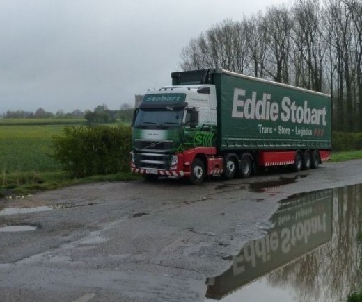 Eddie Stobart , Julia Anne in a Layby