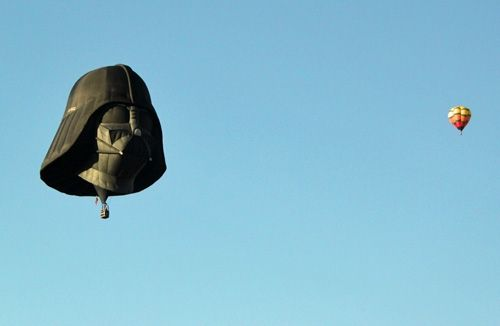 The Darth Vader balloon came all the way from Europe to participate in the event.