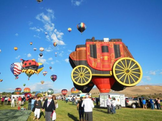 The Wells Fargo stagecoach was another one of the great shapes.