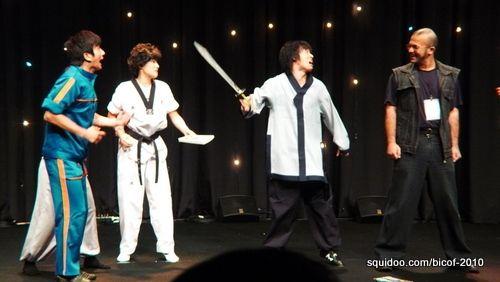 Opening ceremony martial arts exhibition.