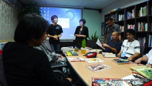 Open house at Gobooky Books, a Korean manhwa publishing firm.