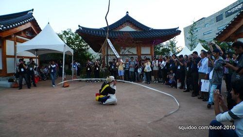 A Pungmul dance performance.