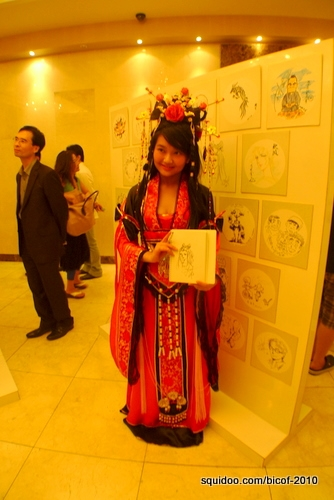 A young Chinese artist delegate in costume.