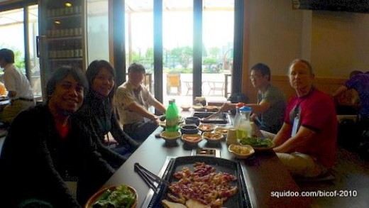 Lunch on Day 2 with delegates from Singapore and Finland (Reima).
