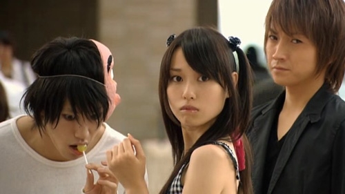 L, Misa Amane and Light at the University.
